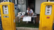 Special Event Station at gas station,  Steam Threshers Show